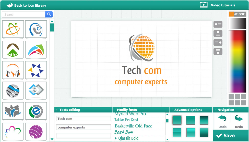 Logogenie Online Unternehmen Logodesign Systeme Online